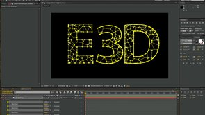 Element 3D – Pre-fracture Text in After Effects using Voronoi without 3D App