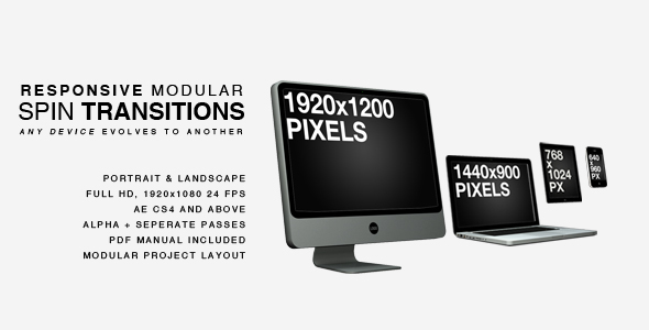 Responsive Website After Effects Template