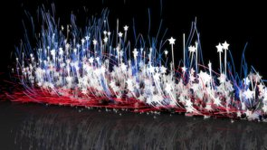 American Logo Particles